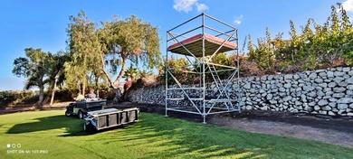 Montaje torres de control para Tenerife Open, torneo del Circuito European Tour celebrado en Golf Costa Adeje. Parte 2.