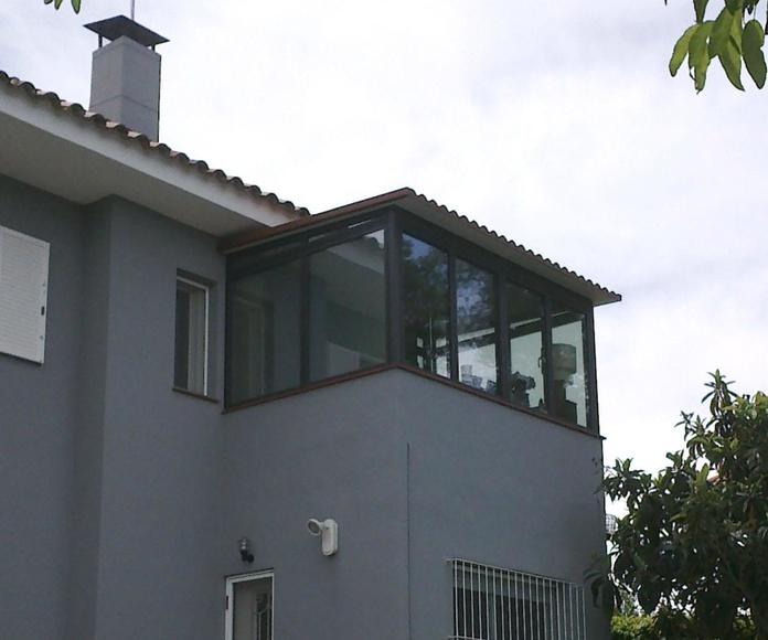 Cerramiento de terraza aluminio cristal