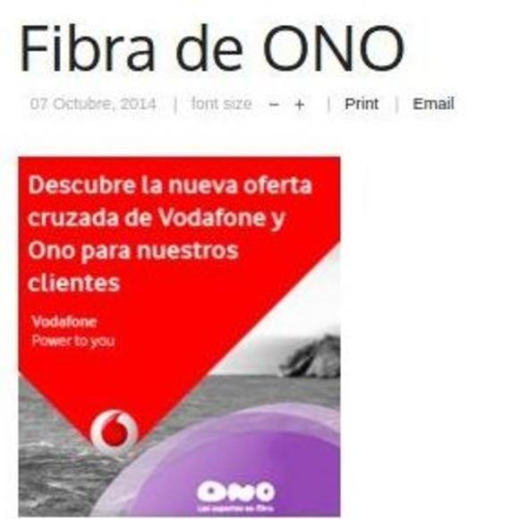 Fibra de Ono : Prestaciones  de Nace Comunica