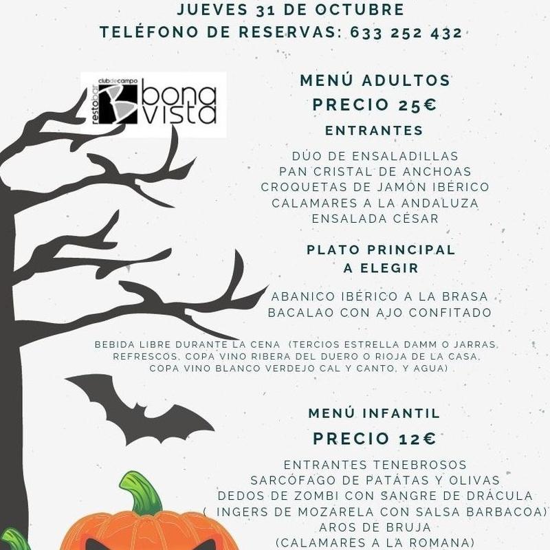 Menú haloween: Carta y Menús de Restaurante Bonavista