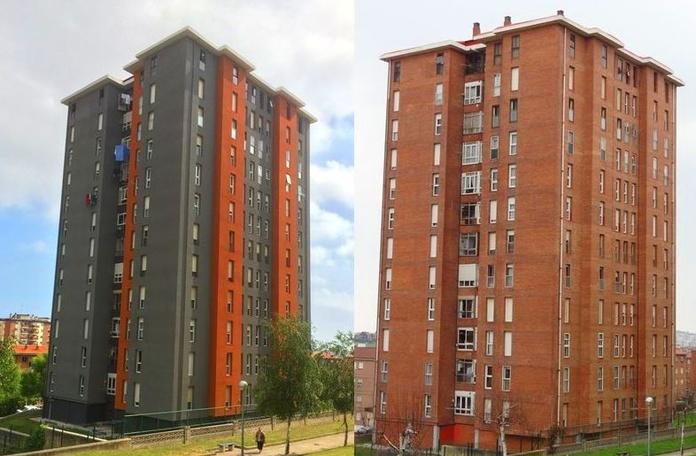 Rehabilitación integral de viviendas en Santander. Fachadas Cantabria.