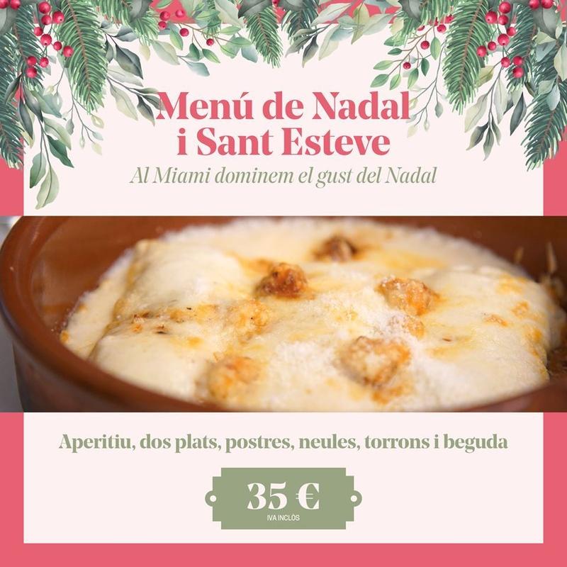 Menú Navidad: Carta y Menús de Restaurant Miami