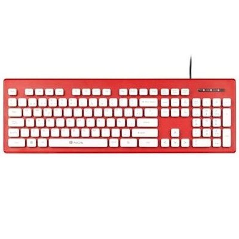 NGS Teclado USB Clipper 104 teclas membrana Rojo : Productos y Servicios de Stylepc