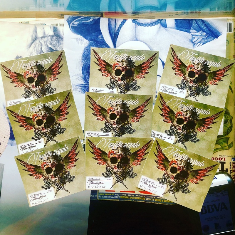 tarjetas Regalo: Catálogo de Tattoo Artman