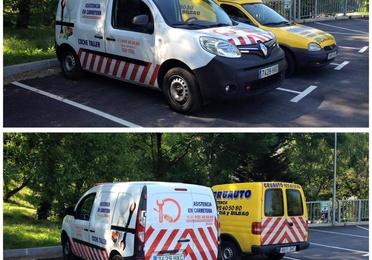 Servicio de coche taller para asistencia in situ de primera necesidad