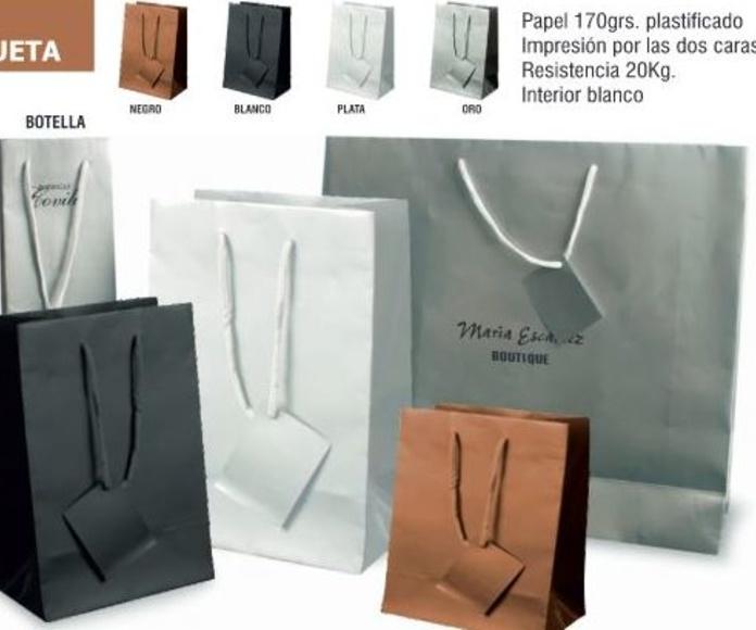 BOLSAS CHAROL ASA CORDON 26X36X11CMS: TIENDA ON LINE de Seriprint Serigrafia