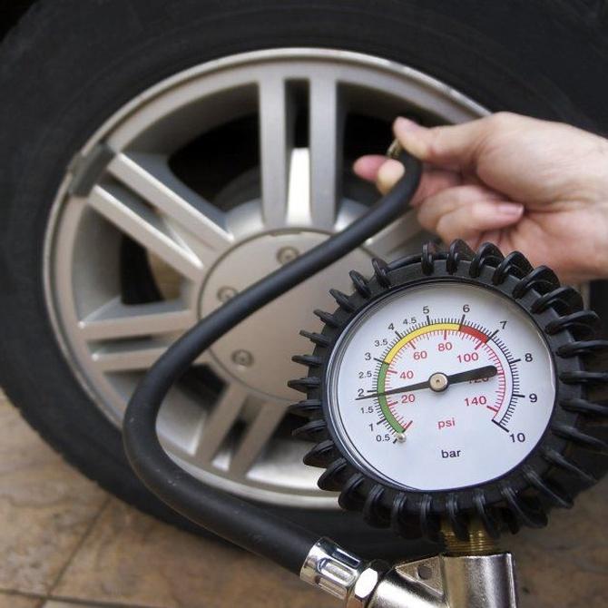 Circular con la rueda a baja presión