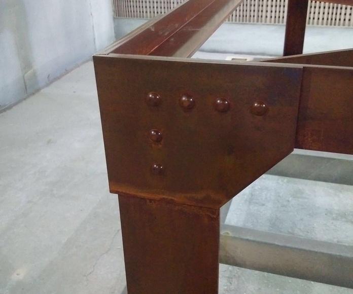 Fabricacion de mesa oxicorte a medida