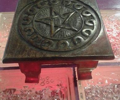 Mini Altar Pentagrama Madera