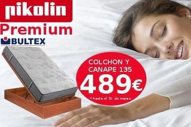 Conjunto colchón y canapé de Pikolin 135: 489 €