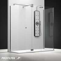 Mampara de baño Profiltek walk-in serie Belus modelo BS-241