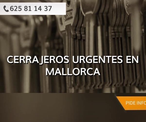 Cerrajeros 24 horas en Mallorca. Disponibilidad completa en toda la isla