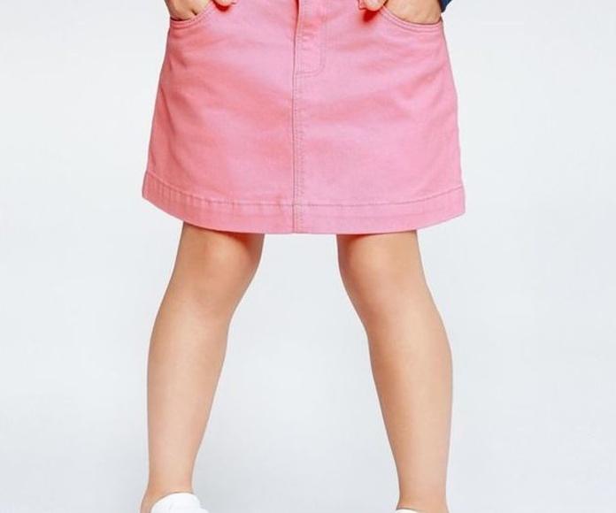 Falda de sarga rosa 12,99€