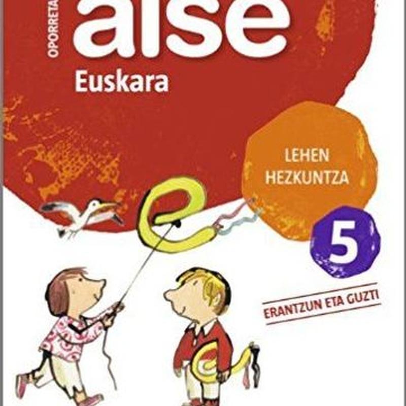 Cuaderno vacaciones Aise 5 oporretan euskara 9788498940725 ZUBIA SANTILLANA