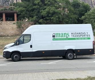 Transportes urgentes: Servicios de Mudanzas Mans