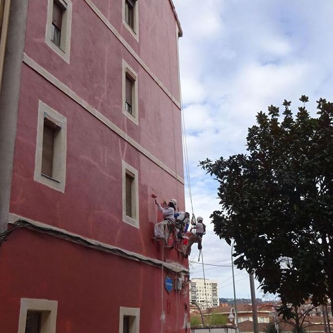 La rehabilitación térmica de una fachada