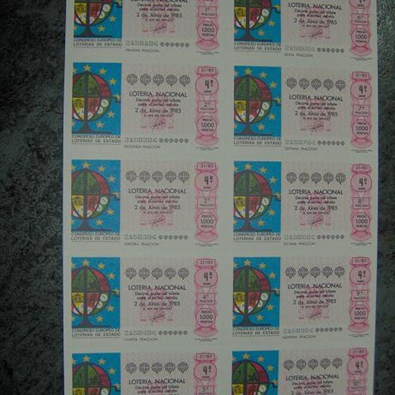 LOTERIA NACIONAL: PRODUCTOS Y SERVICIOS de Lotería El Madroño Admón. Nº 121
