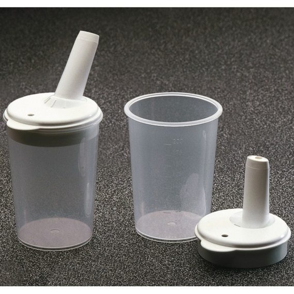 Vaso de alimentación con tetina regulable