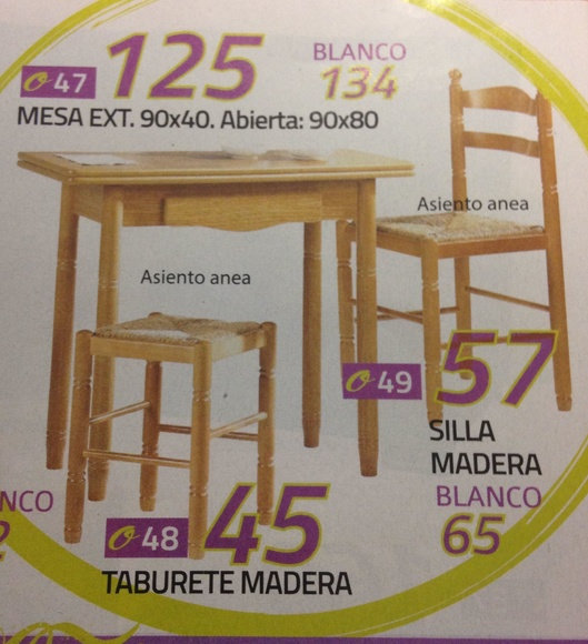 mesa cocina mod.47: Productos  de Muebles Llueca, S. L.