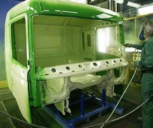Funcionamiento de una cabina de pintura de automóvil