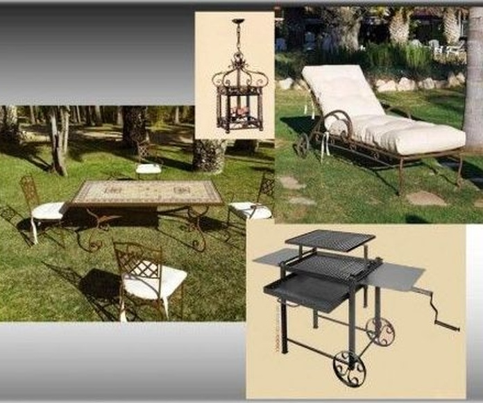 muebles de forja para exterior