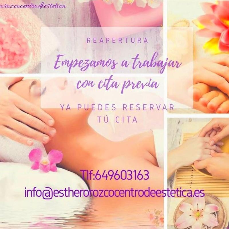 TOCA CUIDARSE : Ofertas y Tratamientos de Esther Orozco Estética Personalizada
