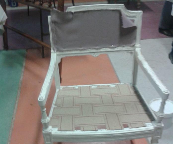 Tapizando sillones con acabado efecto rozado