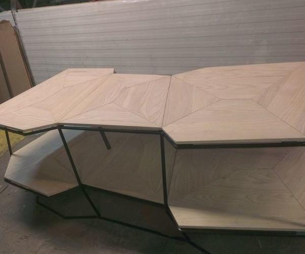 Mobiliario de diseño combinando materiales
