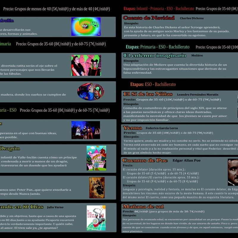Campaña escolar: Cartelera y actividades de Teseo Teatro