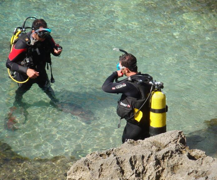 Curso de buceo en Menorca, Scuba Plus, Try Scuba Diving, Iniciación al buceo