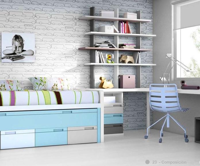 Dormitorio juvenil composición 23