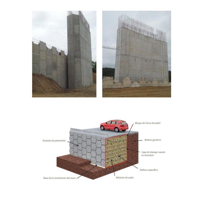 Muros de suelo reforzado (tierra armada): Servicios de Técnicas y Obras Noroeste