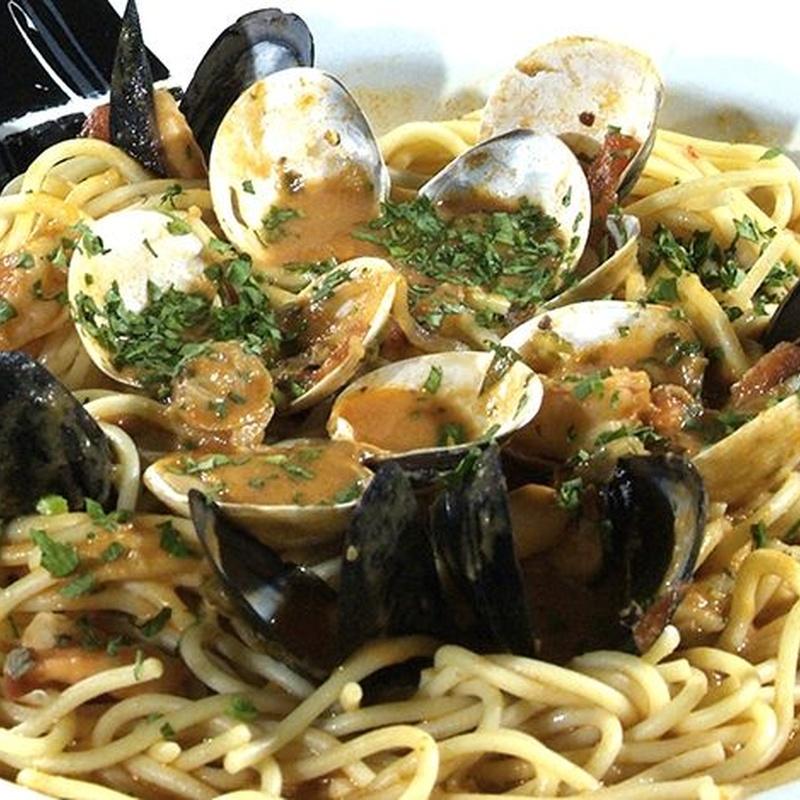Espaguetis frutas del mar: Carta y Menús de Cantarradas