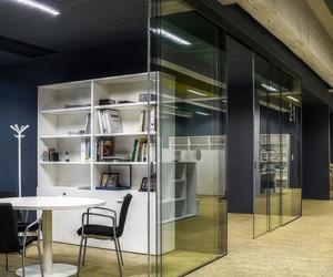 Dos puertas de cristal para oficina