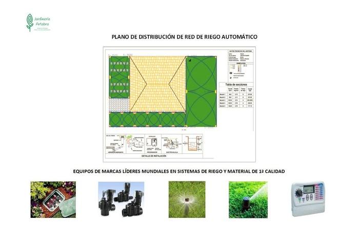 DISEÑO DE RIEGO AUTOMÁTICO PARA JARDINES Y ZONAS VERDES: Servicios de Jardinería Ártabro