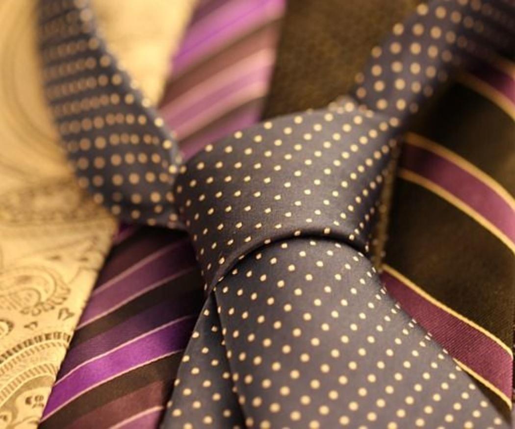 La limpieza de las corbatas