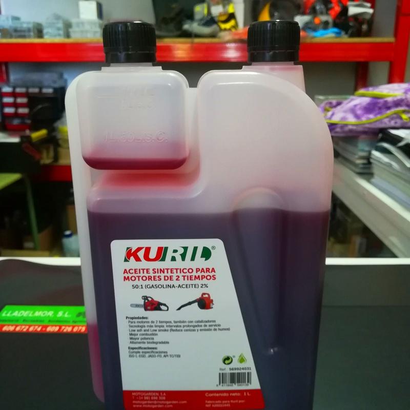 Aceite Sintético para Motores de 2 Tiempos Kuril (Envase 1 Litro)