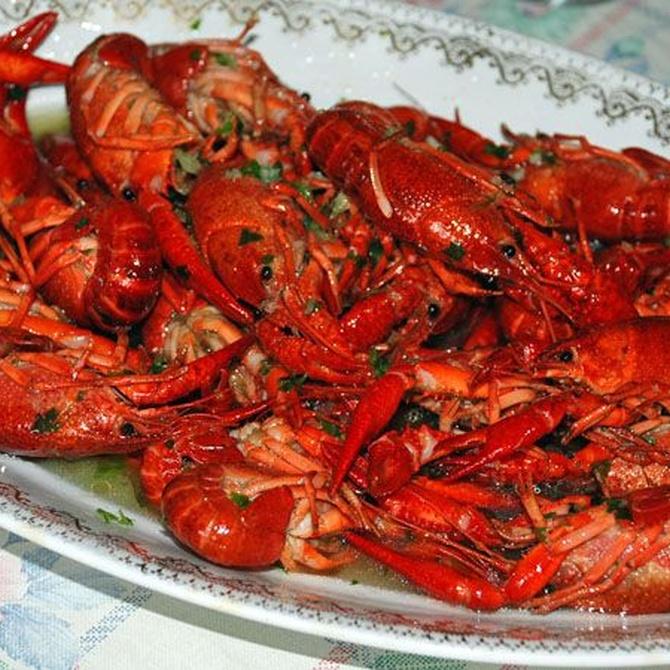 El cangrejo en el plato