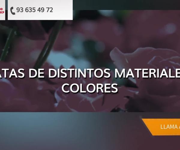 Flores artificiales en Lleida