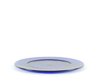 Plato de presentación azul