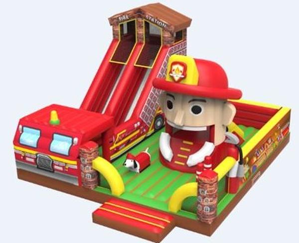 hinchable xxl bomberos