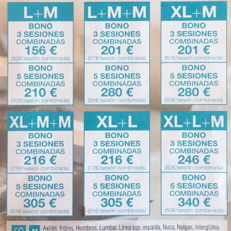 Tarifas de precios - Láser Diodo: Servicios de Centro de estética Mímate