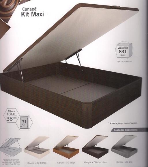 Canape Madera Maxi:  de Colchonería Moderna