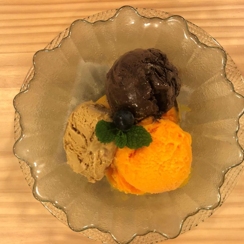 Trío de helados: CARTA y Menús de Alquimia