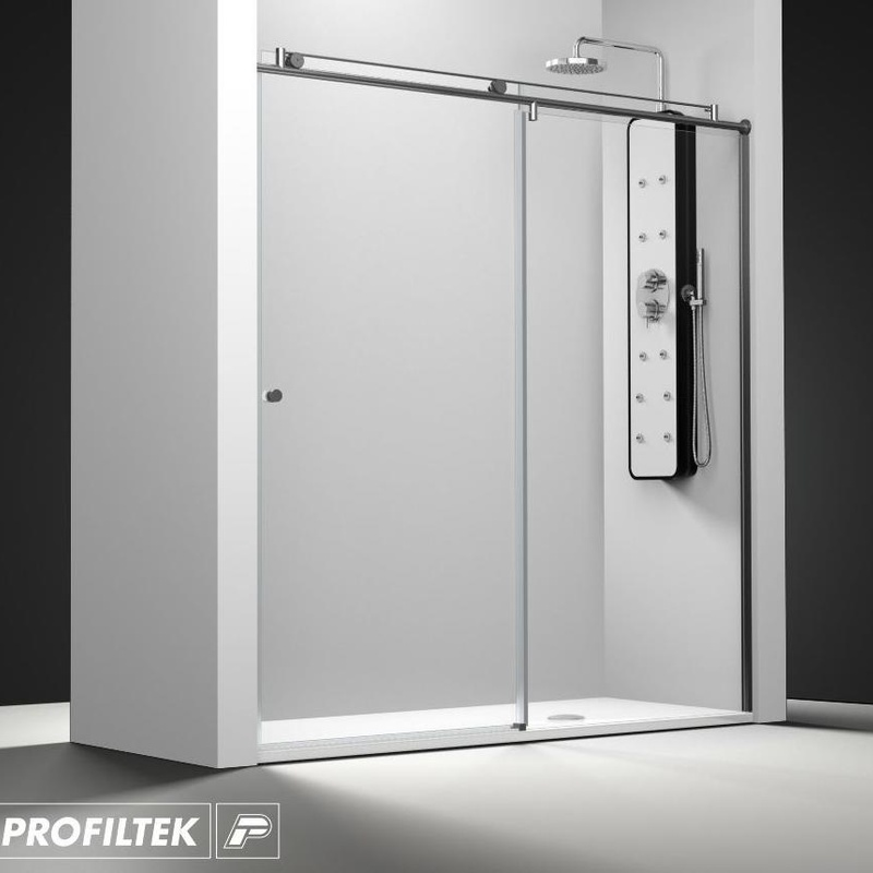 Mampara de baño Profiltek serie Steel modelo ST-210 Light