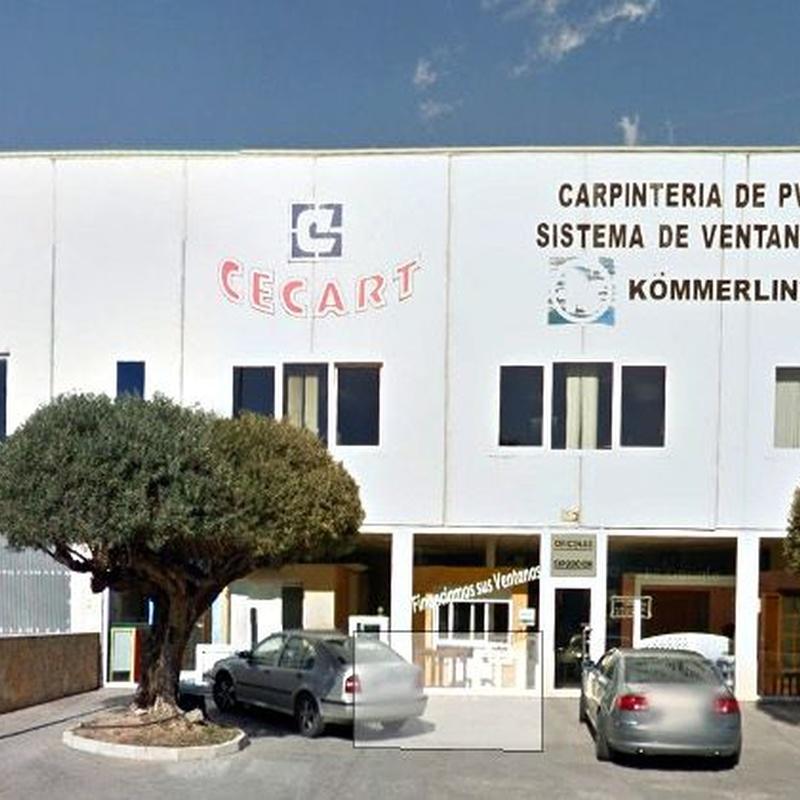 Fabricación e instalación de carpintería exterior de PVC: SISTEMAS DE VENTANAS de Cecart Cerramientos Carthago