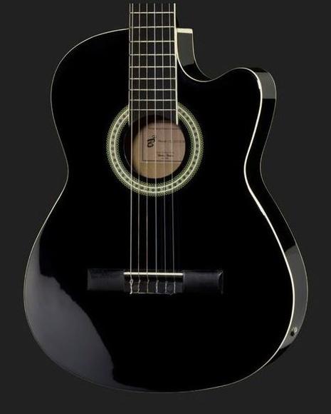 Guitarra española con previo eq barata Harley Benton. Decibelios Playa Honda Lanzarote