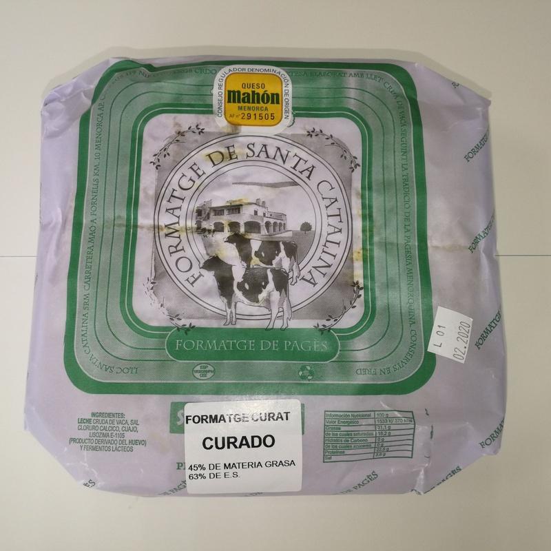 Pieza queso Santa Catalina Curat 2,250-2,600 Kg:  de Ramaders Agrupats