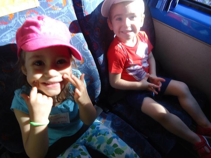 En el autobus a la granja escuela