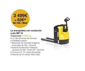 Oferta transpaleta con conductor a pie MP16